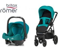 Duo Britax Smile 2 + Römer Baby Safe SHR II Lagoon Green