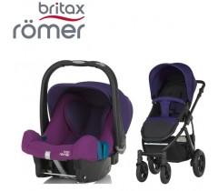 Duo Britax Smile 2 + Römer Baby Safe SHR II Mineral Purple