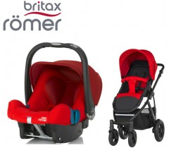 Duo Britax Smile 2 + Römer Baby Safe SHR II Flame Red