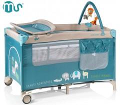 MS - Cama de viagem Complet Plus Azul Jungla