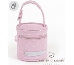 Pasito a Pasito - Porta chupetas rosa -  Atelier