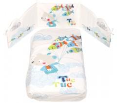 Tuc Tuc - Conjunto de cama + proteção 120 x 60  - Kimono