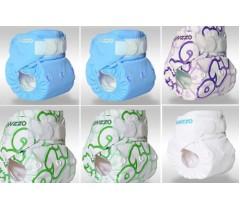 Gyzzo - Fraldas reutilizáveis para bebé, pack de 6 (menino)