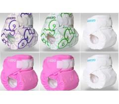 Gyzzo - Fraldas reutilizáveis para bebé, pack de 6 (menina)