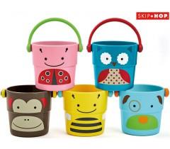 Skip Hop - Brinquedos de banho Zoo Buckets