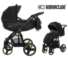 BabyActive - Carrinho de bebé 2 in 1 Mommy Gold Magic Preto