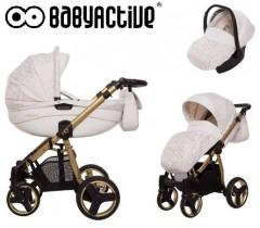 BabyActive - Carrinho de bebé 3 in 1 Mommy Gold Magic Branco