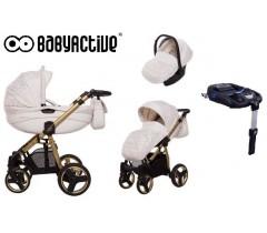 BabyActive - Carrinho de bebé 4 in 1 Mommy Gold Magic Branco