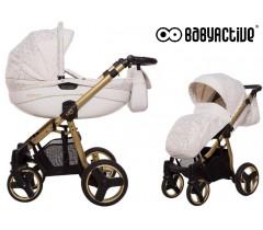 BabyActive - Carrinho de bebé 2 in 1 Mommy Gold Magic Branco