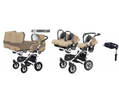 BabyActive - Carrinho trigémeos 4 in 1 Trippy Classic Cappuccino Beige