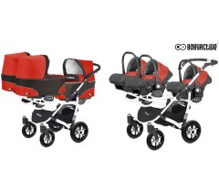 BabyActive - Carrinho trigémeos 3 in 1 Trippy Classic Mexican Red