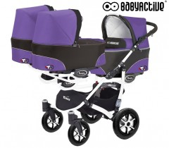 BabyActive - Carrinho trigémeos 2 in 1 Trippy Classic Ultraviolet