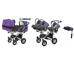 BabyActive - Carrinho trigémeos 4 in 1 Trippy Classic Ultraviolet