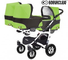 BabyActive - Carrinho trigémeos 2 in 1 Trippy Classic Green Apple