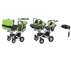 BabyActive - Carrinho trigémeos 4 in 1 Trippy Classic Green Apple
