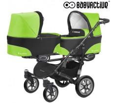 BabyActive - Carrinho de gémeos 2 in 1 Twinny Classic Verde