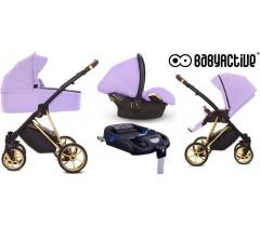 BabyActive - Carrinho de bebé 4 in 1 Musse Ultra Lilac
