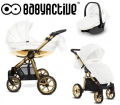 BabyActive - Carrinho de bebé 3 in 1 Mommy Glossy Gold