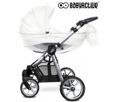 BabyActive - Carrinho de bebé 2 in 1 Mommy Glossy Silver