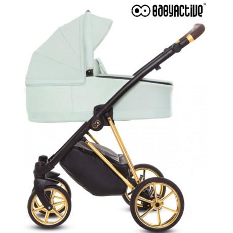 BabyActive - Carrinho de bebé 2 in 1 Musse Ultra Mint