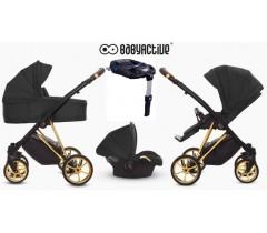 BabyActive - Carrinho de bebé 4 in 1 Musse Ultra Black