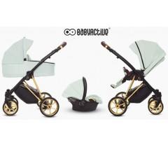 BabyActive - Carrinho de bebé 3 in 1 Musse Ultra Mint