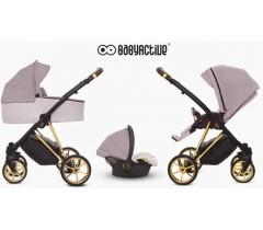 BabyActive - Carrinho de bebé 3 in 1 Musse Ultra Pastel
