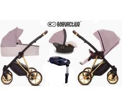 BabyActive - Carrinho de bebé 4 in 1 Musse Ultra Pastel