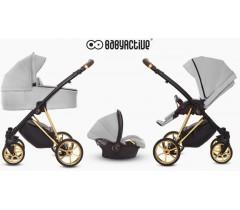 BabyActive - Carrinho de bebé 3 in 1 Musse Ultra Zen