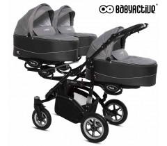 BabyActive - Carrinho trigémeos 2 in 1 Trippy Premium Silver