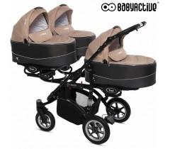 BabyActive - Carrinho trigémeos 2 in 1 Trippy Premium Beige
