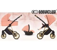 BabyActive - Carrinho de bebé 3 in 1 Musse Ultra Apricot