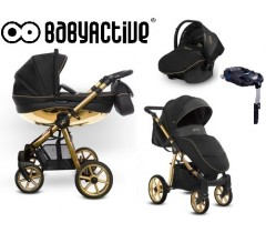 BabyActive - Carrinho de bebé 4 in 1 Mommy Glossy Gold
