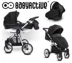 BabyActive - Carrinho de bebé 3 in 1 Mommy Glossy Silver