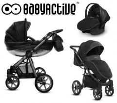 BabyActive - Carrinho de bebé 3 in 1 Mommy Glossy Space Grey