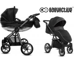 BabyActive - Carrinho de bebé 2 in 1 Mommy Glossy Space Grey