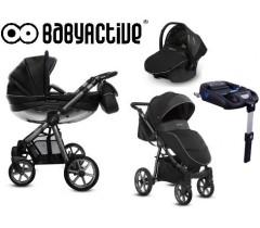 BabyActive - Carrinho de bebé 4 in 1 Mommy Glossy Silver